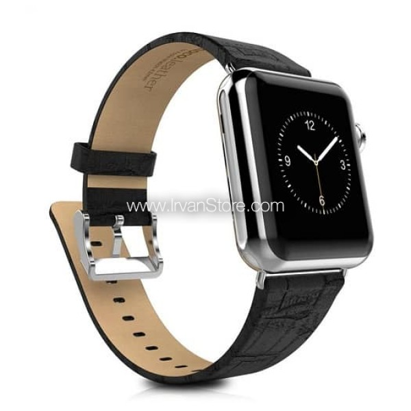 Premium Bamboo Texture Leather Band for Apple Watch Series 1 & 2