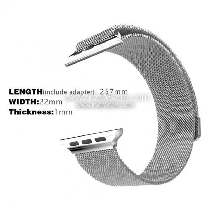 Milanese Watchband untuk Apple Watch 42mm & 38mm, Series 1 ...