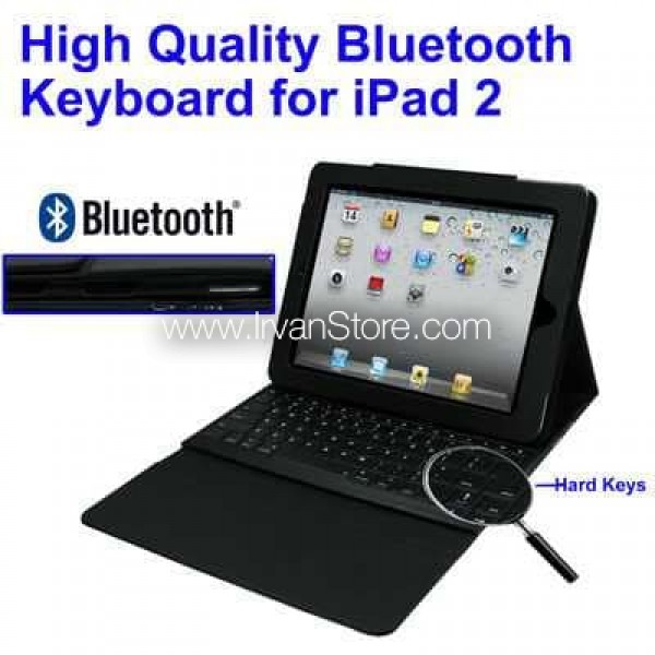 2 in 1 Bluetooth Keyboard + Folding Leather Protective Case