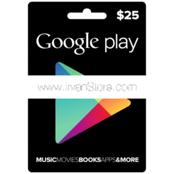 Voucher Google Play Gift Card 25 USD (US)