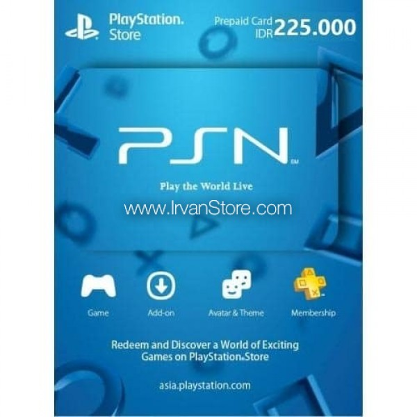 Voucher PSN PlayStation Network Card  (ID) 225.000 IDR